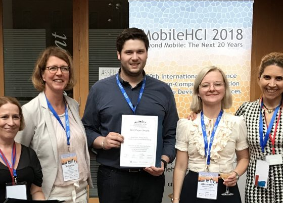 Best paper awards at MobileHCI 2018