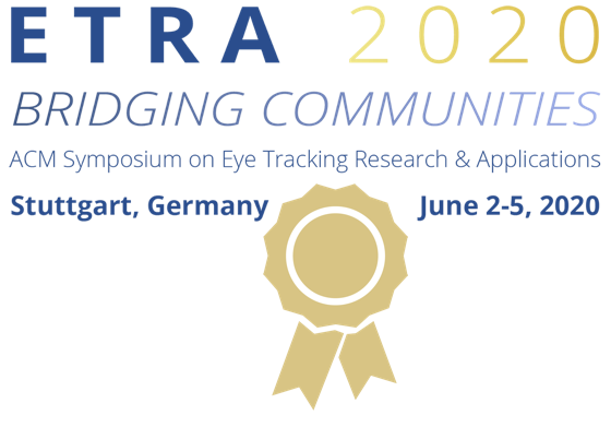 Best paper award at ETRA 2020