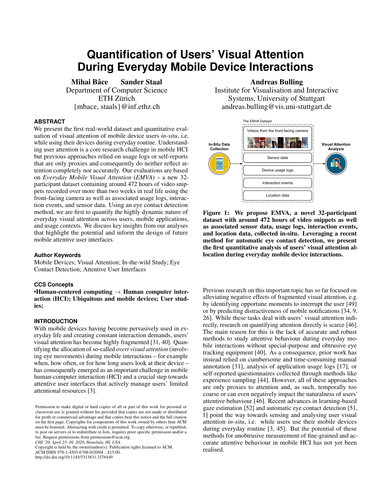 Quantification of Users' Visual Attention During Everyday Mobile Device Interactions