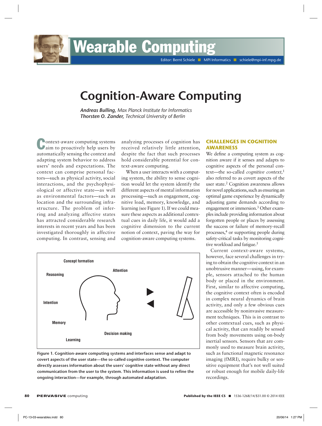 Cognition-Aware Computing